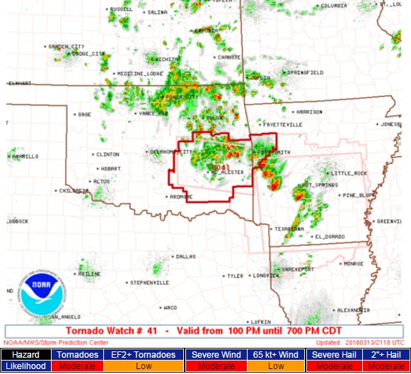 Tornado Watch Oklahoma