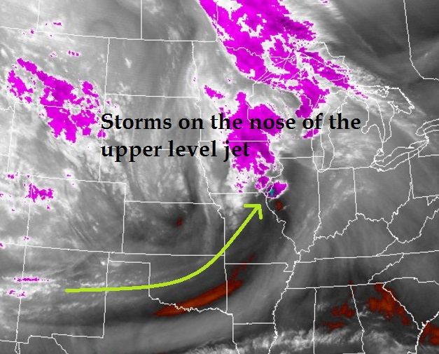 satellite water vapor imagry